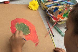 Art Class in the Children's Garden and Outdoor Classroom in Lorena, TX.